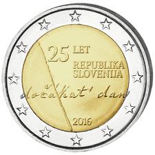 SLOVENIE 2 Euros 25ème Anniversaire Indépendance 2016 UNC