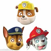 PAW PATROL PAPER FACE MASK PACK OF 8 BIRTHDAY PARTY SUPPLIES