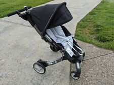 4Moms Origami Power Fold Single Seat Stroller. Black and Silver