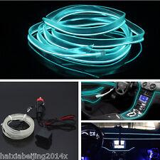 6.5Ft Ice Blue EL-Wire Car Unique Decor Fluorescent Strip Neon Lamp Cold light