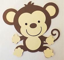 Cute Animal Monkey Paper Die Cut Scrapbook Embellishment