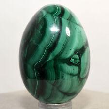 46mm Malachite Egg Natural Banded Crystal Polished Mineral Gemstone Egg - Congo