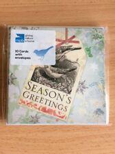 RSPB 10 Pack Christmas Cards - Seasons Greetings