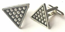 Snooker Triangle & Balls Hand Made Pewter Cufflinks (N297) Gift Boxed