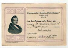 """Einladung Stenographen-Verein """"Gabelsberger"""" Stützerbach"""