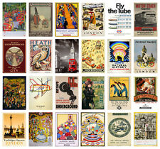 VINTAGE LONDON UK Retro TRAVEL A4 A3 POSTERS 40 DESIGNS BUY 1 GET 2 FREE