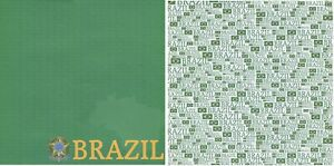 BRAZIL country 1 sheet Scrapbook Paper double-sided Reminisce PSP012 NEW