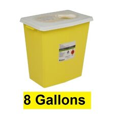 3 x Covidien Chemotherapy Sharps Container 8985 SharpSafety 8 Gallon YLW Base