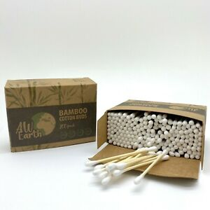 200 Bamboo Wooden Cotton Buds Biodegradable VEGAN Eco Friendly Packs Compostable