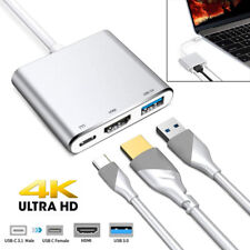 Type C USB 3.1 USB-C 4K HDMI USB 3.0 Adapter Cable 3 in 1 Hub For Macbook