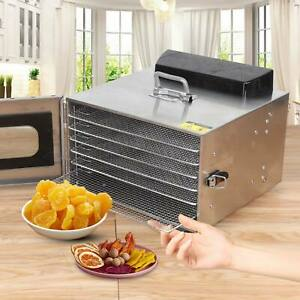Electric Food Dehydrator 6 Trays Fruit Dryer Drying Machine Stainless 35L uk