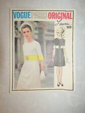 Vogue Paris Original Lanvin 1910 Sewing Pattern S-14 Dress