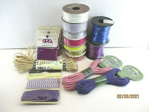 Lot Of 16 Crafting Cord various sizes and colors, all new unopened