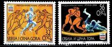 SERBIA Y MONTENEGRO 2004 JUEGOS OLIMPICOS ATENAS 2004 3187/88 2v.