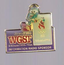 1996 WGST News Radio Information Radio Sponsor Atlanta Olympic Pin Izzy Press