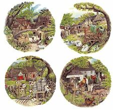 4 Country Farm Animal Scene Select-A-Size Waterslide Ceramic Decals Bx