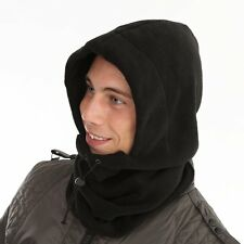 Mens Black Fleece Copricollo Collo Balaclava Caldo