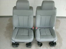 Ford F-150 Supercab gray leather front seats
