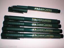 5x Faber-Castell Finepen 1511 schwarz 0,4mm Tinte dokumentenecht 151199 NEU