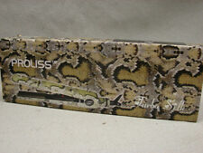 "PROLISS TURBO SILK LIMITED EDITION SNAKE TOURMALINE 1"" FLAT IRON STRAIGHTENER"