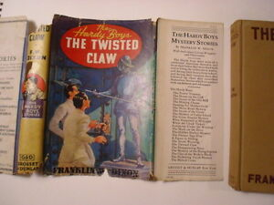 Hardy Boys #18, The Twisted Claw, DJ, Orange Endapers, Early Edition