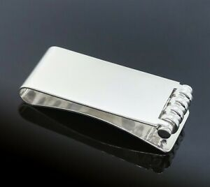 Tiffany & Co. Paloma Picasso 925 Sterling Silver Groove Roller Money Clip/Holder