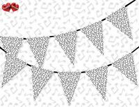 Music Party Notes Dancing All A Round Bunting Banner 15 flags Birthday Fun