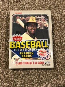 1983 FLEER BASEBALL CARD CELLO PACK HOF HALL OF FAME TONY GWYNN ROOKIE RC RARE