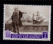 SAN MARINO  SCOTT# 309  MNH   CHRISTOPHER COLUMBUS TOPICAL