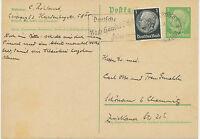 DT.REICH 1935, Paul von Hindenburg 5 Pf hellgrün auf sämisch (glattes Papier)