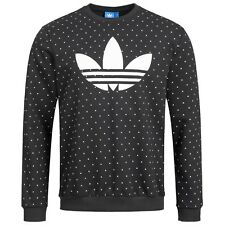 4593aa01c4698 Adidas Sweatshirt Trefoil originals Sweat Herren Hoodie Pullover SCHWARZ NEU