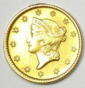 1851 Liberty Gold Dollar G$1 Coin - Choice AU Details - Rare Coin!