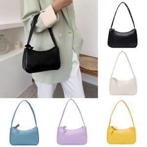 Women Retro PU Leather Handbag Shoulder Crossbody Bag Messenger Satchel Tote