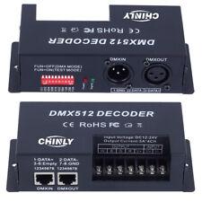 4 Channels DMX Decoder RGB LED Strip DMX512Controller Dimmer Driver DC12V-24V
