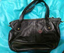 Sak Black Pebble Leather Large Shoulder Bag