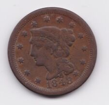1848 Braided Hair Large Cent 1c US Coin FREE SHIPPING!!!