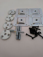 SET OF 4 LEG FIXING MOUTING PLATES BRACKETS LEVEL / ANGLED PLATE  FEET LEGS M8