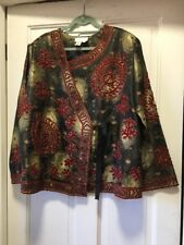 Soft Surroundings 3X Tie Wrap Jacket Embroidered New NWOT