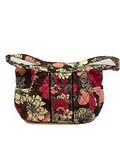 Vera Bradley Women Pink/Brown Alice In Mocha Floral Small Zip Close Purse