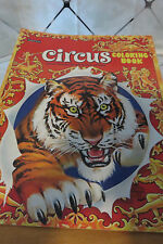 1970s Circus Coloring Book w/ Cutouts on Back SAALFIELD Giant Coloring Book NEW