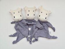 3x TOPOMINI Ernsting's family HIPPO NILPFERD blau Schmusetuch Topolino WIE NEU *