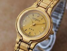 Wittnauer by Longines QWR Ladies Swiss 18K Gold-Plated Dress Watch c1990 298