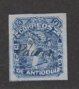 Antioquia Colombia States #41 Cancel Pacora only 5,000 Printed Large Margins