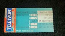 Def Leppard 1987 Concert Ticket Stub - Riverfront Coliseum - Cincinnati Oh