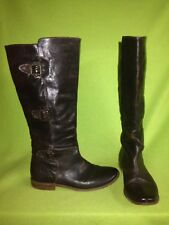 Brown Frye Boots with Buckles 8