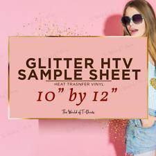 Glitter Heat Transfer Vinyl HTV 1 Sheet Gold for Heat Press & Iron On 12 x 10