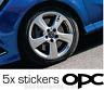 Opel OPC wheel sticker Zafira OPC Corsa OPC Aufkleber Insignia Signum Omega