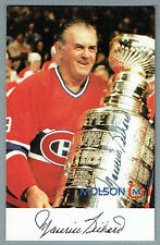 1980's Maurice Rocket Richard , Autographed Molson Promo Card