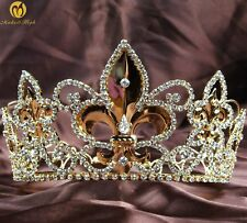 Imperial Medieval Pageant Crowns King Queen Full Tiaras Wedding Party Costumes