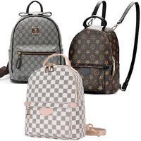 Designer Printing Leather Backpack Women Mini Back Pack Girl Shoulder School Bag